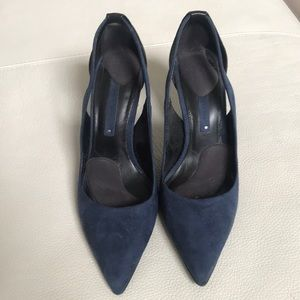 Zara Shoes - Zara Blue and Black Heels